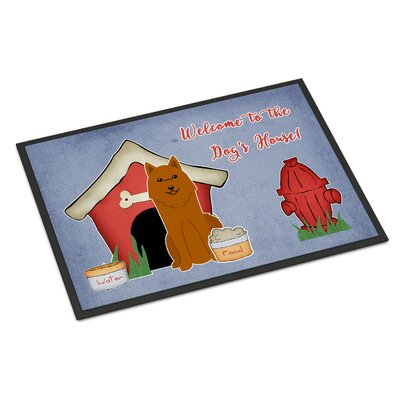 Dog House Karelian Bear Dog Doormat Rug Size: 2 x 3
