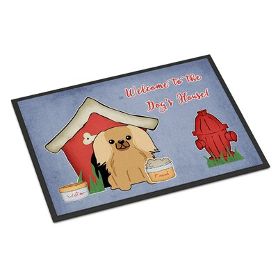 Dog House Pekingnese Doormat Mat Size: Rectangle 2 x 3