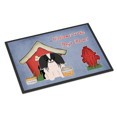Dog House Pekingnese Doormat Rug Size: Rectangle 2 x 3