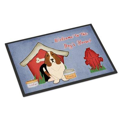 Dog House Basset Hound Doormat Rug Size: Rectangle 2 x 3