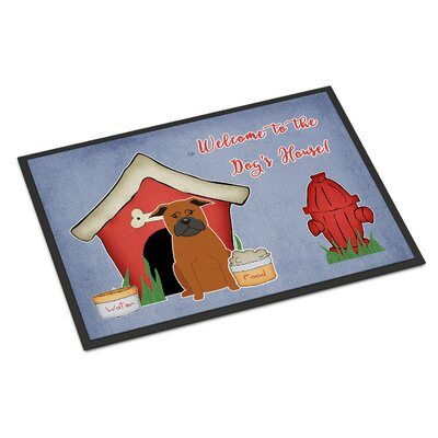 Dog House Chinese Chongqing Dog Doormat Rug Size: Rectangle 2 x 3