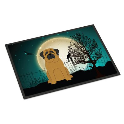 Halloween Scary Mastiff Doormat Mat Size: Rectangle 2 x 3, Color: Brown