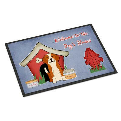 Dog House English Foxhound Doormat Mat Size: Rectangle 2 x 3