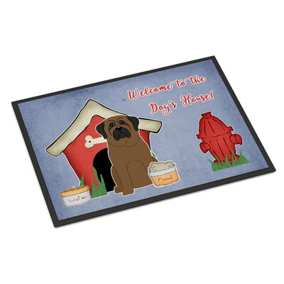 Dog House Bullmastiff Doormat Rug Size: 2 x 3