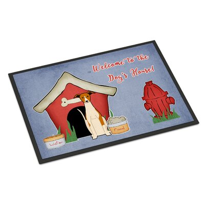 Dog House Whippet Doormat Mat Size: Rectangle 2 x 3