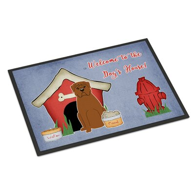 Dog House Dogue De Bourdeaux Doormat Mat Size: Rectangle 2 x 3