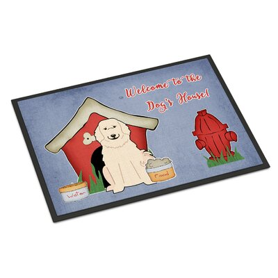 Dog House Great Pyrenese Doormat Rug Size: 2 x 3