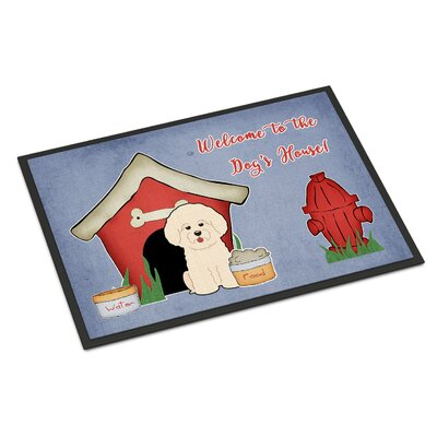 Dog House Bichon Frise Doormat Rug Size: Rectangle 2 x 3