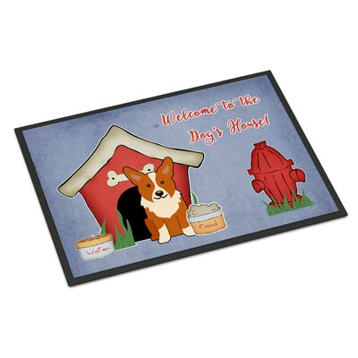 Dog House Corgi Doormat Rug Size: 2 x 3