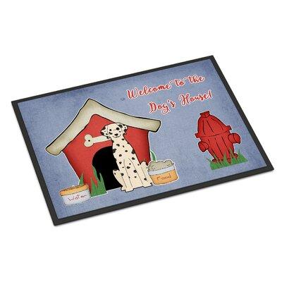 Dog House Dalmatian Doormat Rug Size: Rectangle 2 x 3