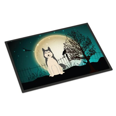 Halloween Scary West Siberian Laika Spitz Doormat Rug Size: Rectangle 16 x 23