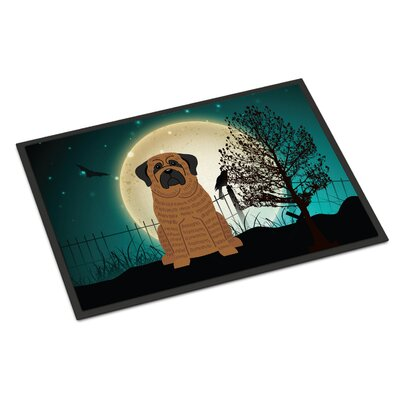 Halloween Scary Mastiff Doormat Mat Size: Rectangle 2 x 3, Color: Brindle