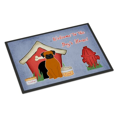 Dog House Boxer Doormat Rug Size: 2 x 3