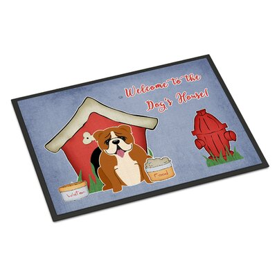 Dog House English Bulldog Doormat Rug Size: Rectangle 2 x 3