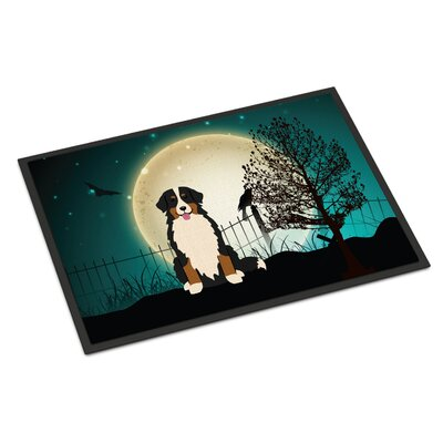 Halloween Scary Bernese Mountain Dog Doormat Mat Size: Rectangle 16 x 23