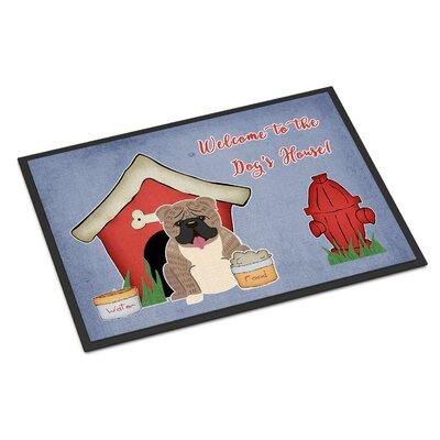Dog House English Bulldog Doormat Rug Size: 2 x 3