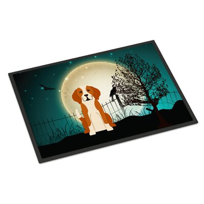 Halloween Scary English Foxhound Doormat Mat Size: Rectangle 16 x 23