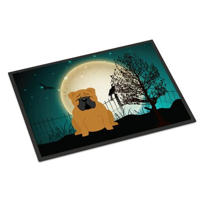 Halloween Scary English Bulldog Doormat Rug Size: 16 x 23