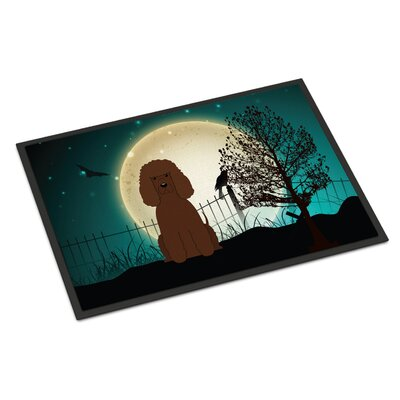 Halloween Scary Irish Water Spaniel Doormat Rug Size: 16 x 23