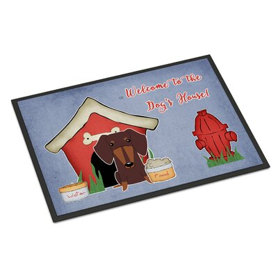 Dog House Dachshund Doormat Mat Size: Rectangle 2 x 3