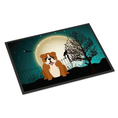 Halloween Scary English Bulldog Doormat Rug Size: 16 x 23