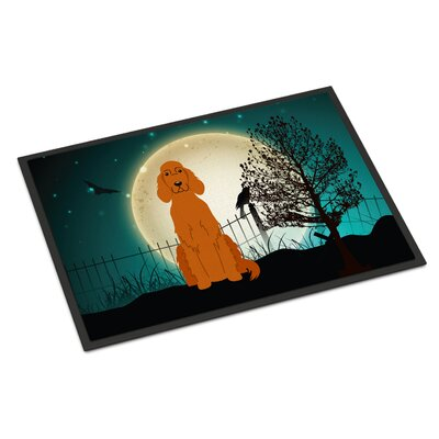 Halloween Scary Irish Setter Doormat Rug Size: 16 x 23