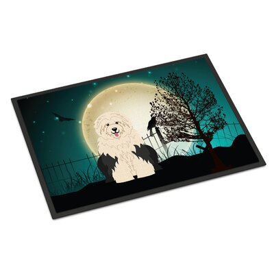 Halloween Scary Old English Sheepdog Doormat Mat Size: Rectangle 16 x 23