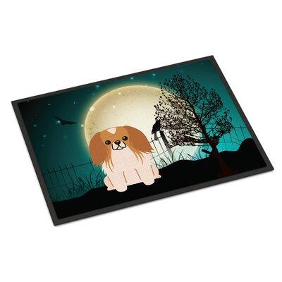 Halloween Scary Pekingnese Doormat Rug Size: 16 x 23