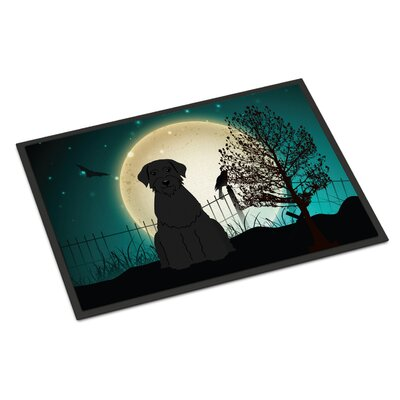 Halloween Scary Giant Schnauzer Doormat Rug Size: Rectangle 1'6