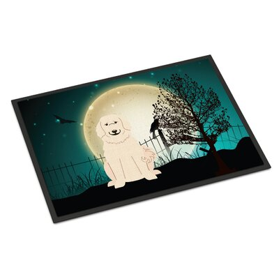 Halloween Scary Great Pyrenees Doormat Rug Size: Rectangle 16 x 23