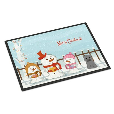 Merry Christmas Carolers Glen of Imal Doormat Rug Size: 16 x 23, Color: Gray