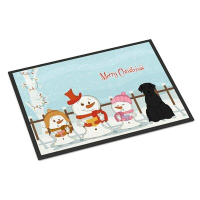 Merry Christmas Carolers Giant Schnauzer Doormat Rug Size: Rectangle 16 x 23
