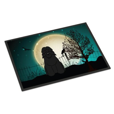 Halloween Scary Bouvier Des Flandres Doormat Rug Size: Rectangle 16 x 23
