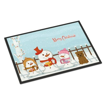 Merry Christmas Carolers Glen of Imal Doormat Rug Size: 16 x 23, Color: Tan