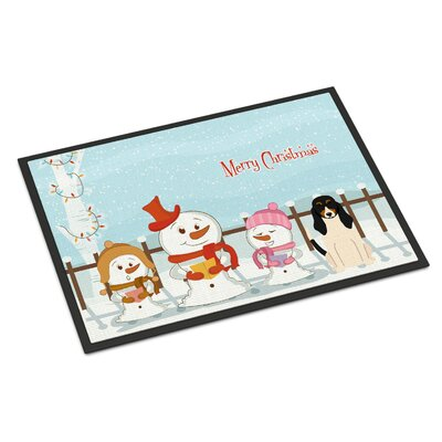Merry Christmas Carolers Swiss Hound Doormat Rug Size: Rectangle 16 x 23