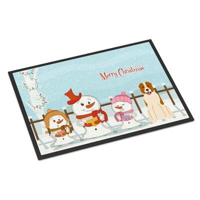 Merry Christmas Carolers Central Asian Shepherd Dog Doormat Mat Size: Rectangle 16 x 23