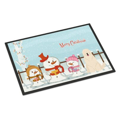 Merry Christmas Carolers South Russian Sheepdog Doormat Rug Size: Rectangle 16 x 23