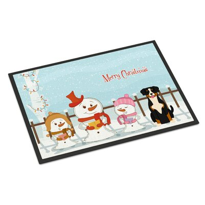 Merry Christmas Carolers Entlebucher Doormat Mat Size: Rectangle 16 x 23