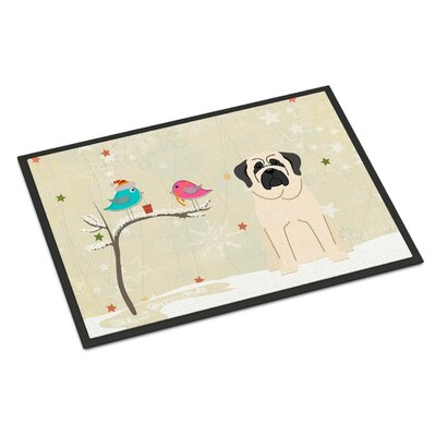 Christmas Presents Between Friends Mastiff Doormat Mat Size: Rectangle 16 x 23, Color: White