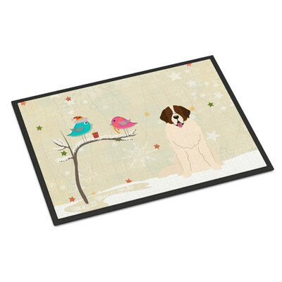 Christmas Presents Between Friends Moscow Watchdog Doormat Rug Size: Rectangle 16 x 23
