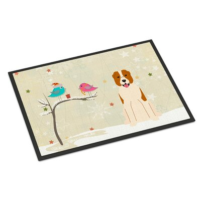 Christmas Presents Between Friends Central Asian Shepherd Dog Doormat Rug Size: Rectangle 16 x 23