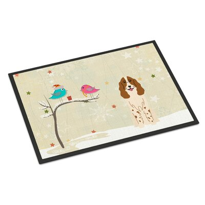 Christmas Presents Between Friends Russian Spaniel Doormat Rug Size: 16 x 23