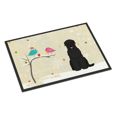 Christmas Presents Between Friends Russian Terrier Doormat Rug Size: Rectangle 16 x 23