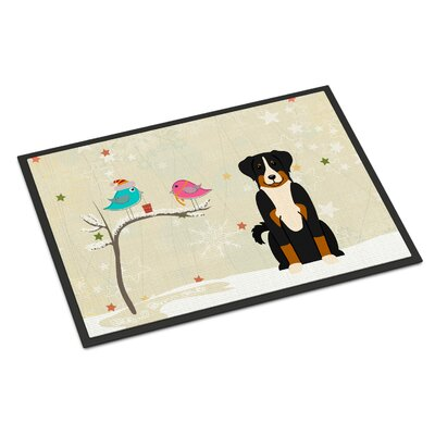 Christmas Presents Between Friends Appenzeller Sennenhund Doormat Rug Size: 16 x 23