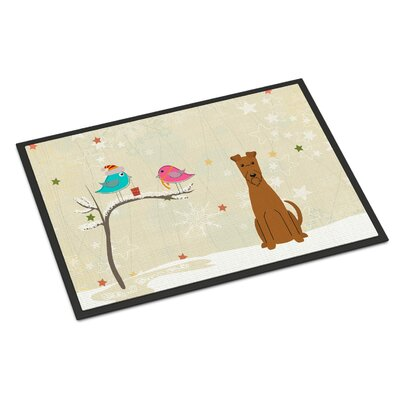 Christmas Presents Between Friends Irish Terrier Doormat Mat Size: Rectangle 16 x 23