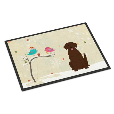 Christmas Presents Between Friends Labrador Doormat Rug Size: 1'6
