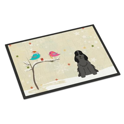 Christmas Presents Between Friends Cocker Spaniel Doormat Mat Size: Rectangle 16 x 23