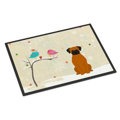 Christmas Presents Between Friends Boxer Doormat Rug Size: 16 x 23