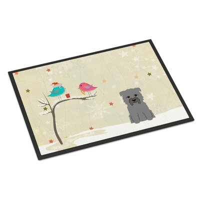 Christmas Presents Between Friends Glen of Imal Doormat Rug Size: 16 x 23, Color: Gray