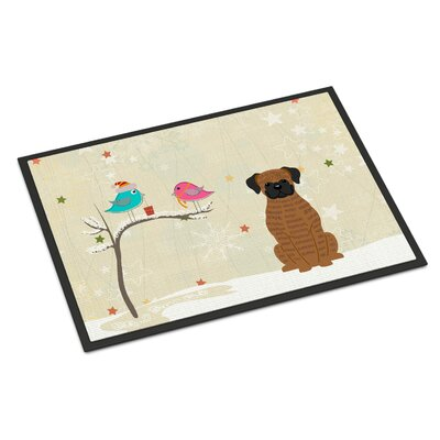Christmas Presents Between Friends Boxer Doormat Rug Size: 16 x 23